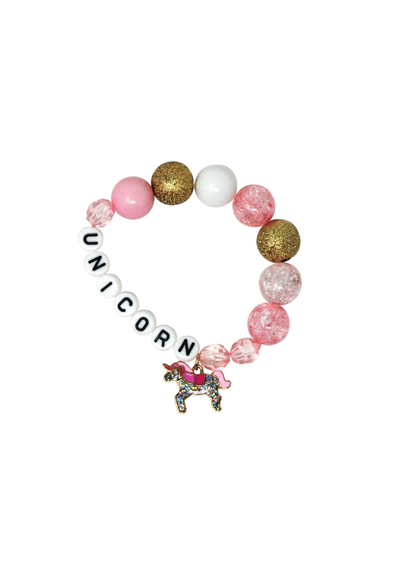 Pink Poppy Unicorn charm bracelet