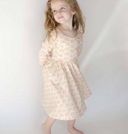 ollie jay Gwendolyn Dress in Muted Rainbow