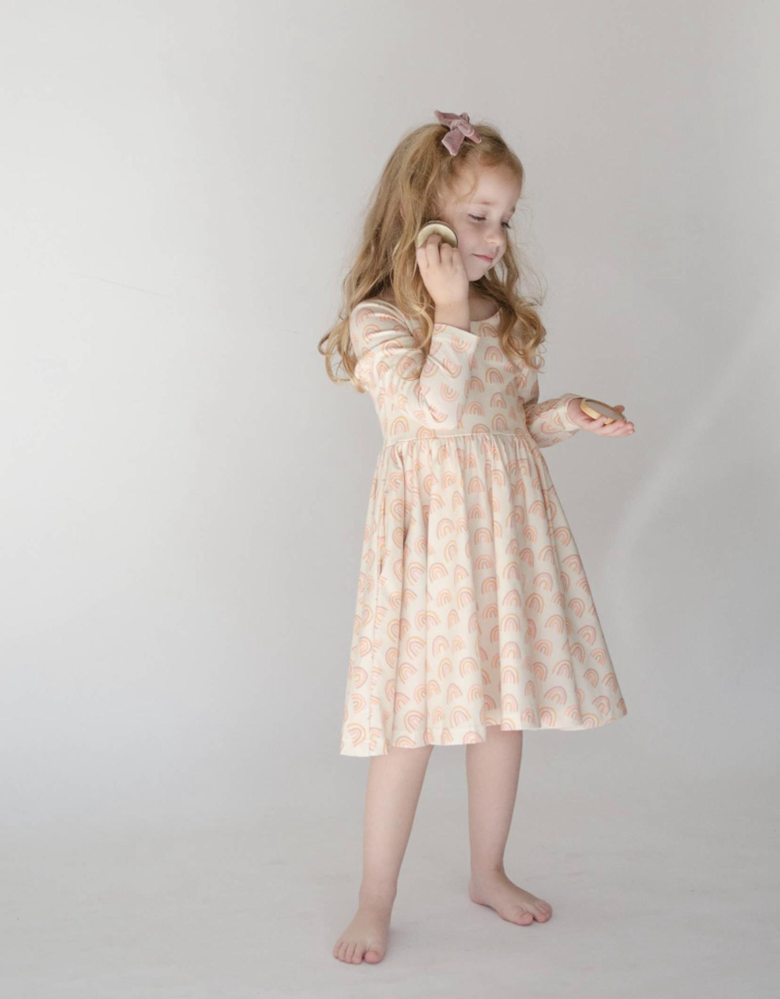 ollie jay Gwendolyn Dress in Muted Rainbow