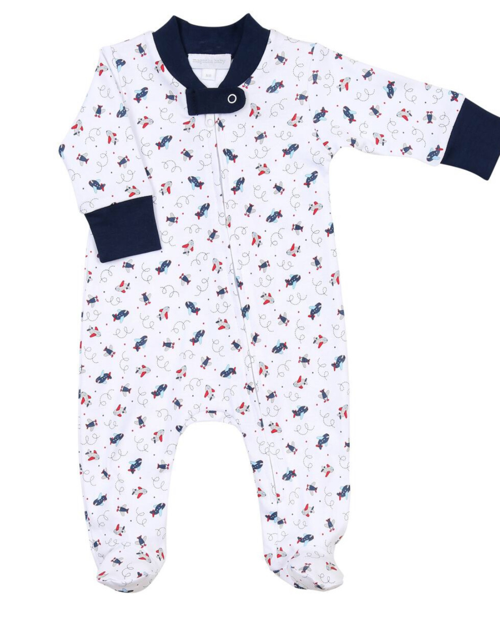 magnolia baby In Flight Zippered Footie