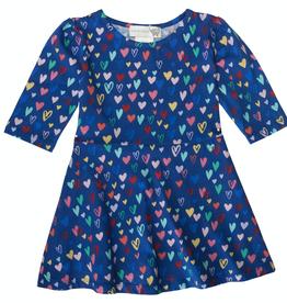lucky jade Classic Blue Hearts Bubbly Dress