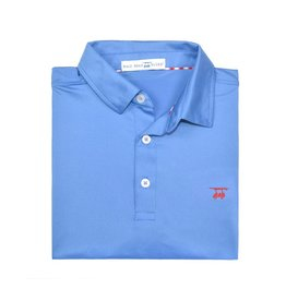 bald head blues Youth Albatross Solid Blue Polo