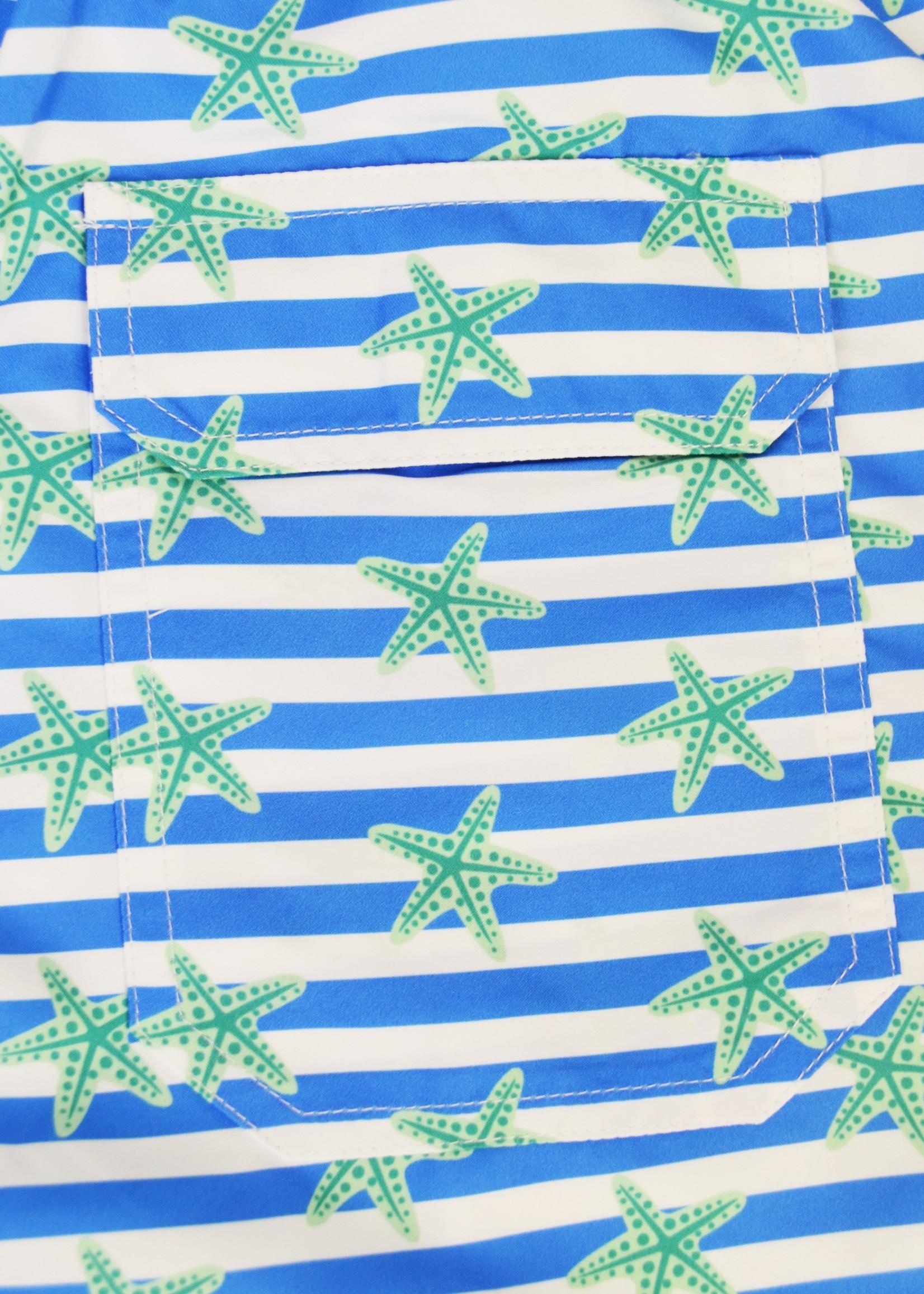 bald head blues Ultramarine Starfish Swim Trunks