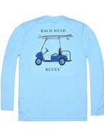 bald head blues Youth Performance Long Sleeve Golf Cart Tee