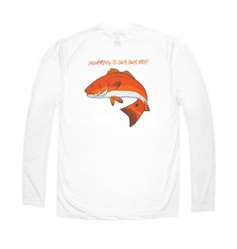 bald head blues Youth Performance Red Drum Tee