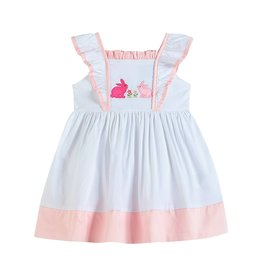 lil cactus White and Pink Bunnies Dress
