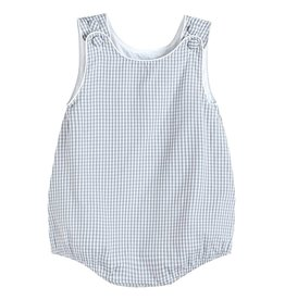 lil cactus Boy Gray Gingham Bubble