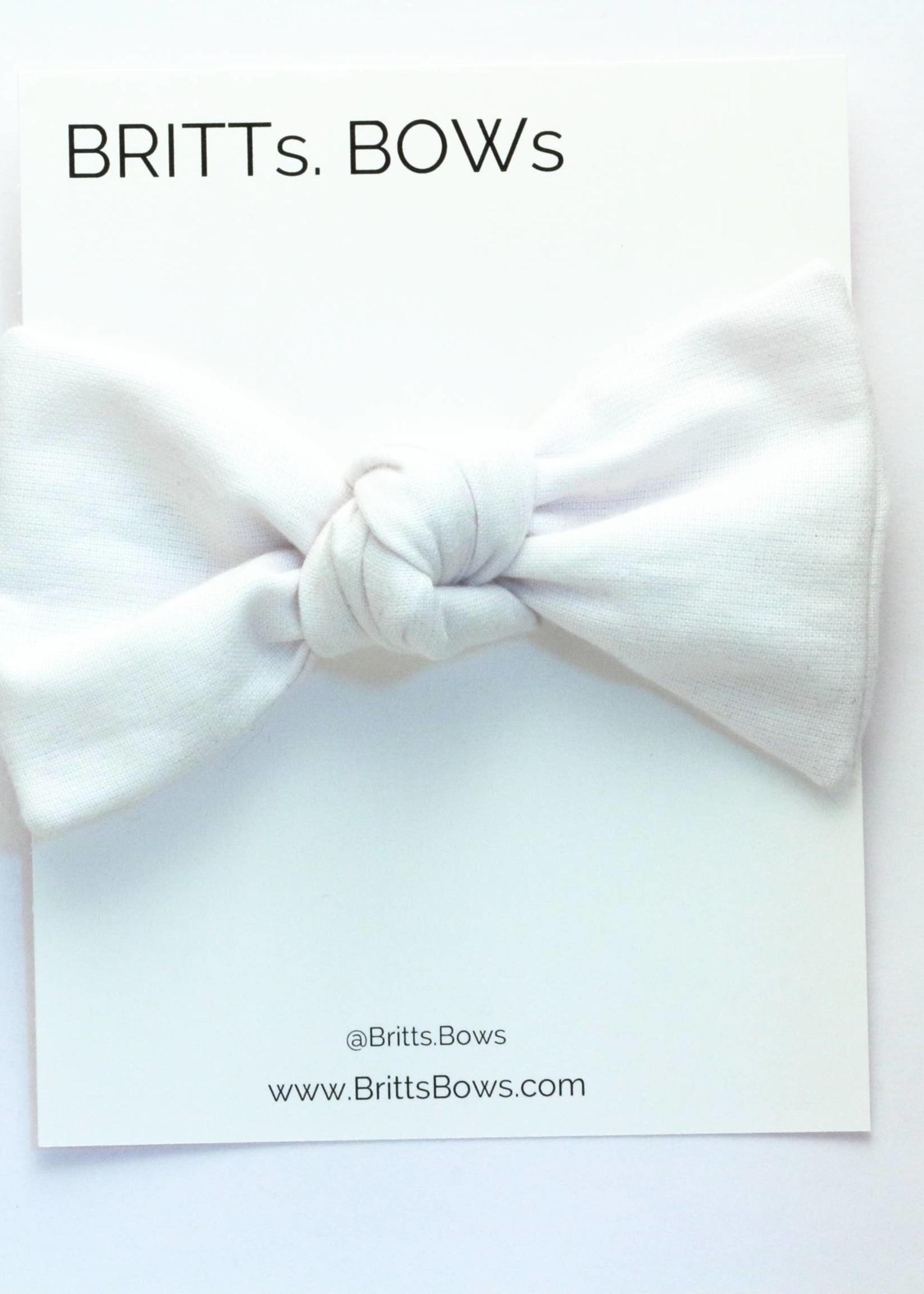 Britts bows Chambray Knot Headband