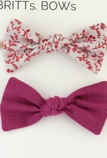 Britts bows Purple/Gray Floral Headband