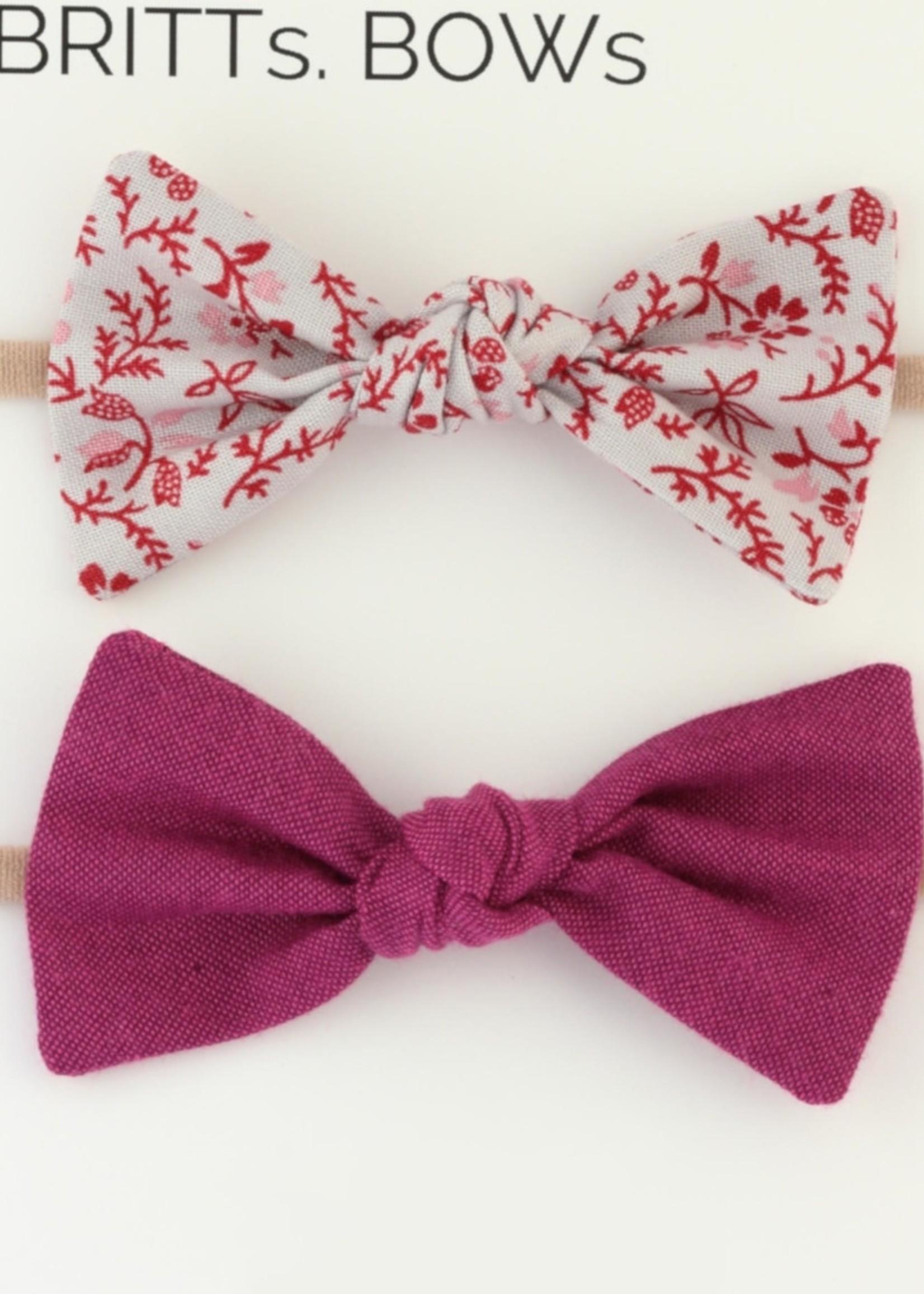 Britts bows Purple/Gray Floral Headband