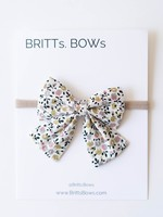 Britts bows White/Mustard Floral Headband