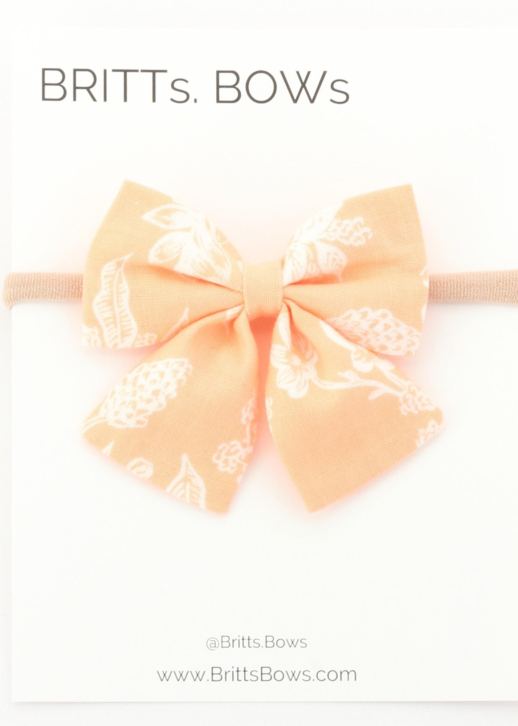 Britts bows Peach and White Headband
