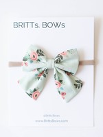 Britts bows Mint Floral Headband