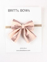Britts bows Rose Gold Stripe Headband