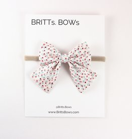 Britts bows White Floral Headband