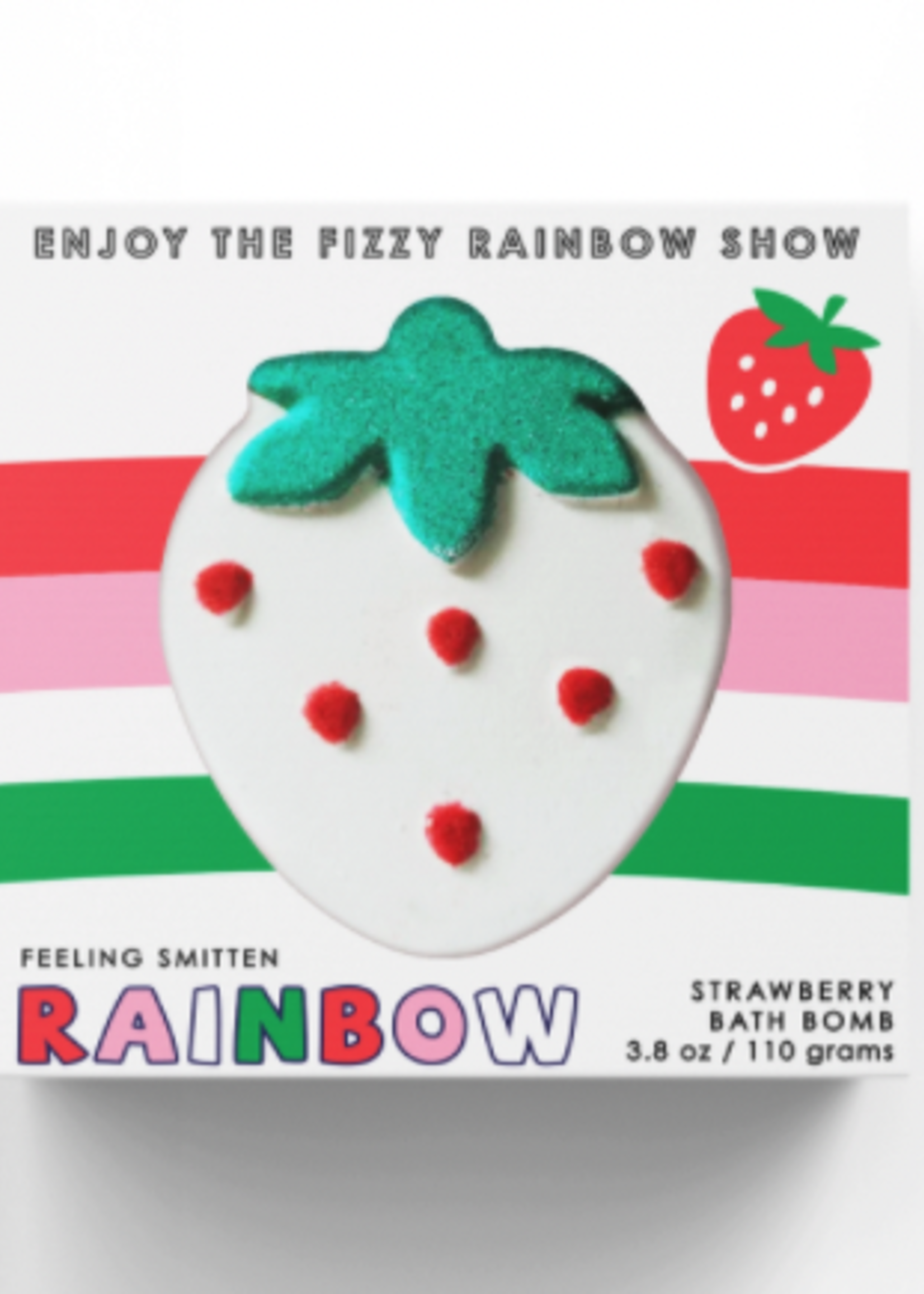 feeling smitten Rainbow Strawberry Bath Bomb
