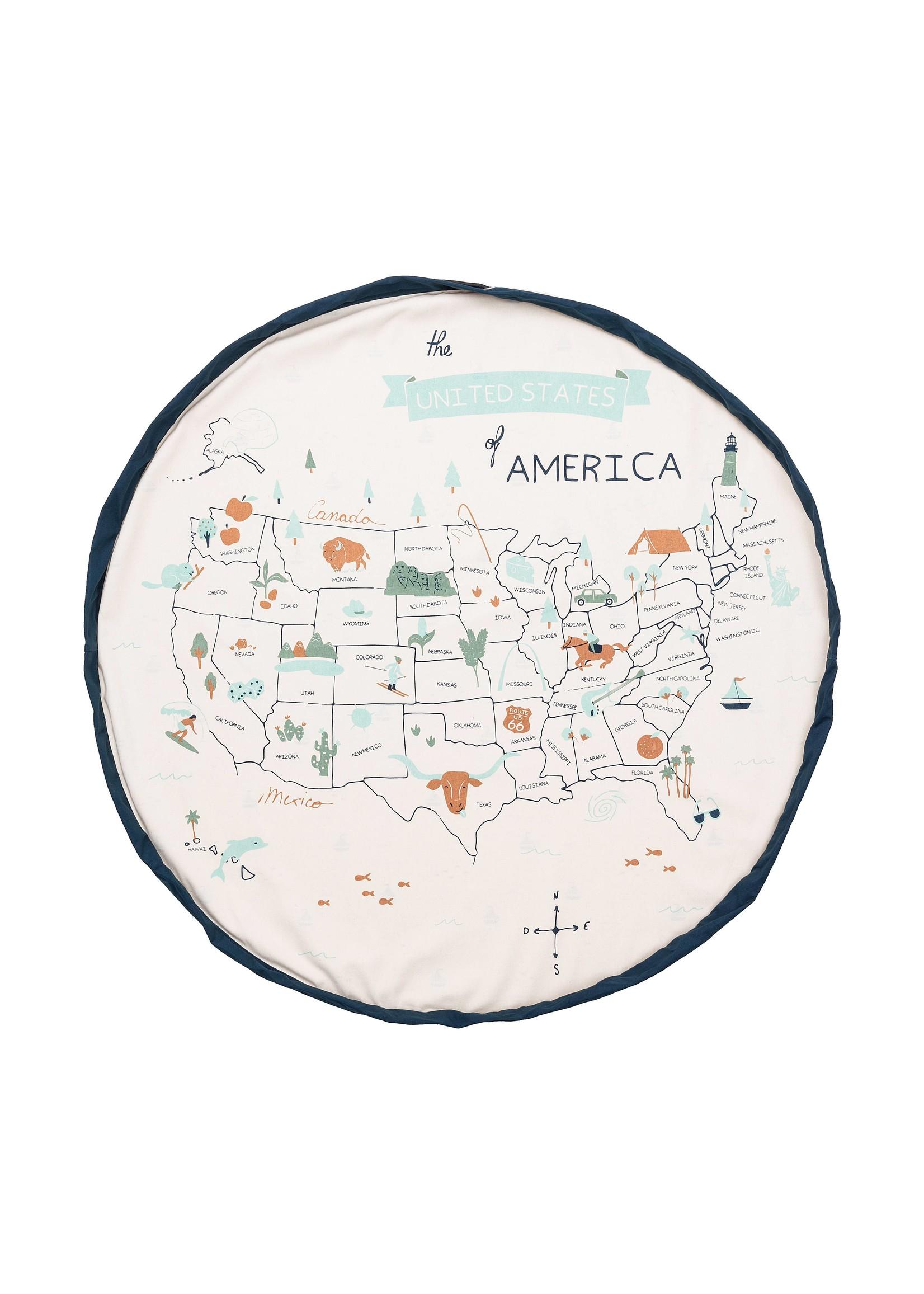 play & go US Map Playmat/toy storage