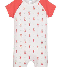 feather baby Lobster Sailor Sleeve Romper