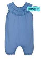 feather baby Cornflower Blue Double Ruffle Romper