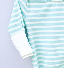 Jack Davis apparel Aqua Stripe Knotted Sleep Gown 0-3m