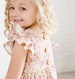wren & james Pinafore in Sunset Floral