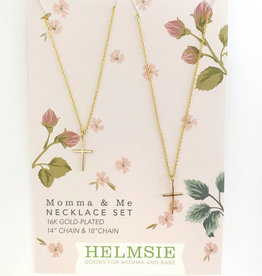 Helmsie Mama + Me Cross Necklace Set