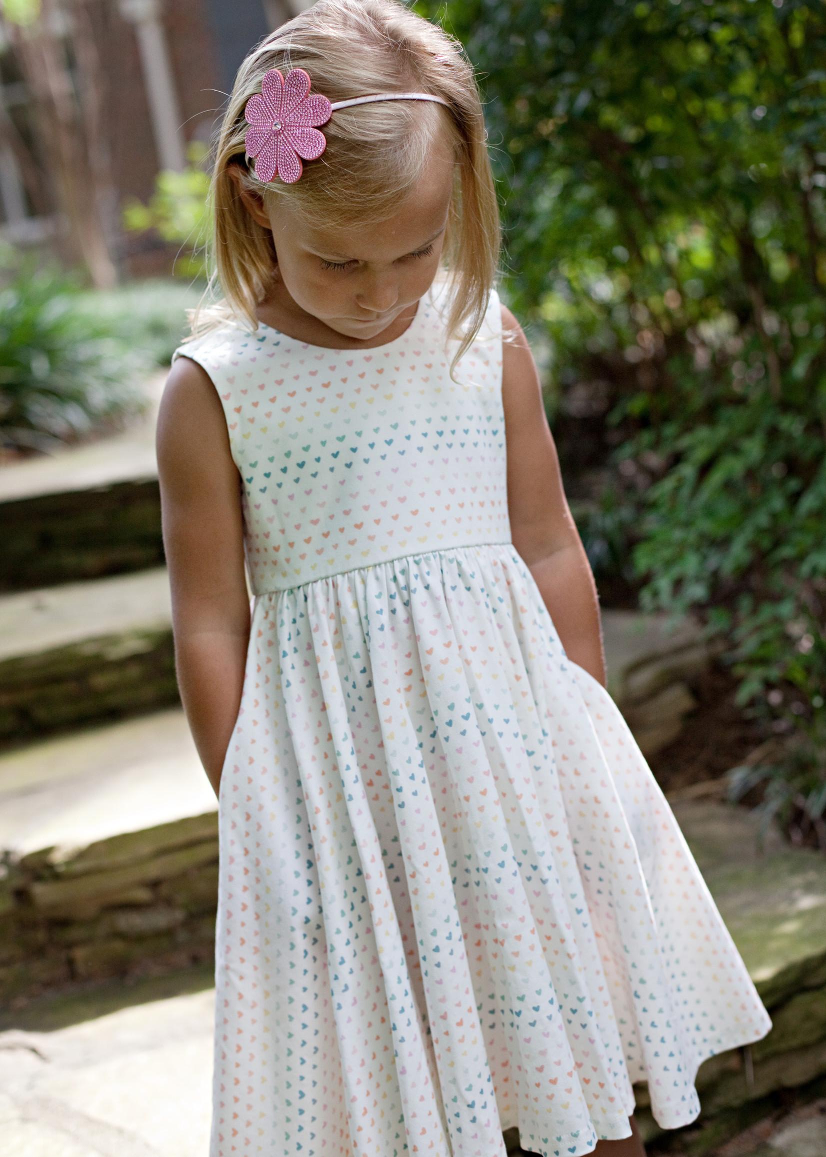 charming mary Birdie Pocket Twirl Dress- Heartful