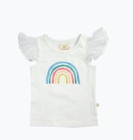 charming mary Tally Tee- Watercolor Rainbow