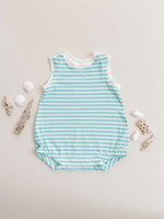 Jack Davis apparel Aqua Stripe Sleeveless Bubble
