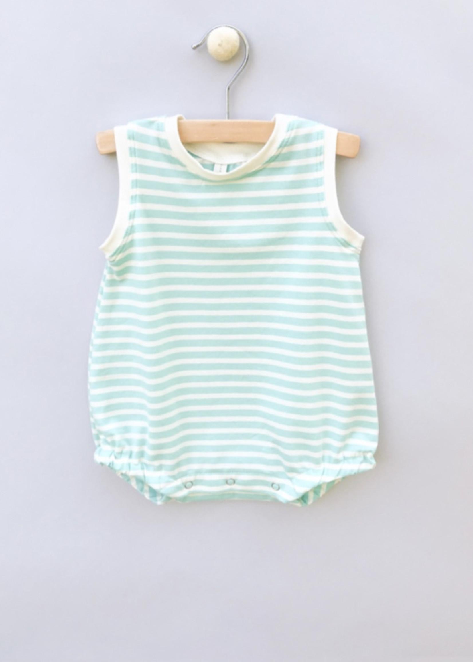 Jack Davis apparel Aqua Stripe Sleeveless Bubble