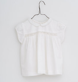 Little Cotton clothes Juno Blouse In Lacy White
