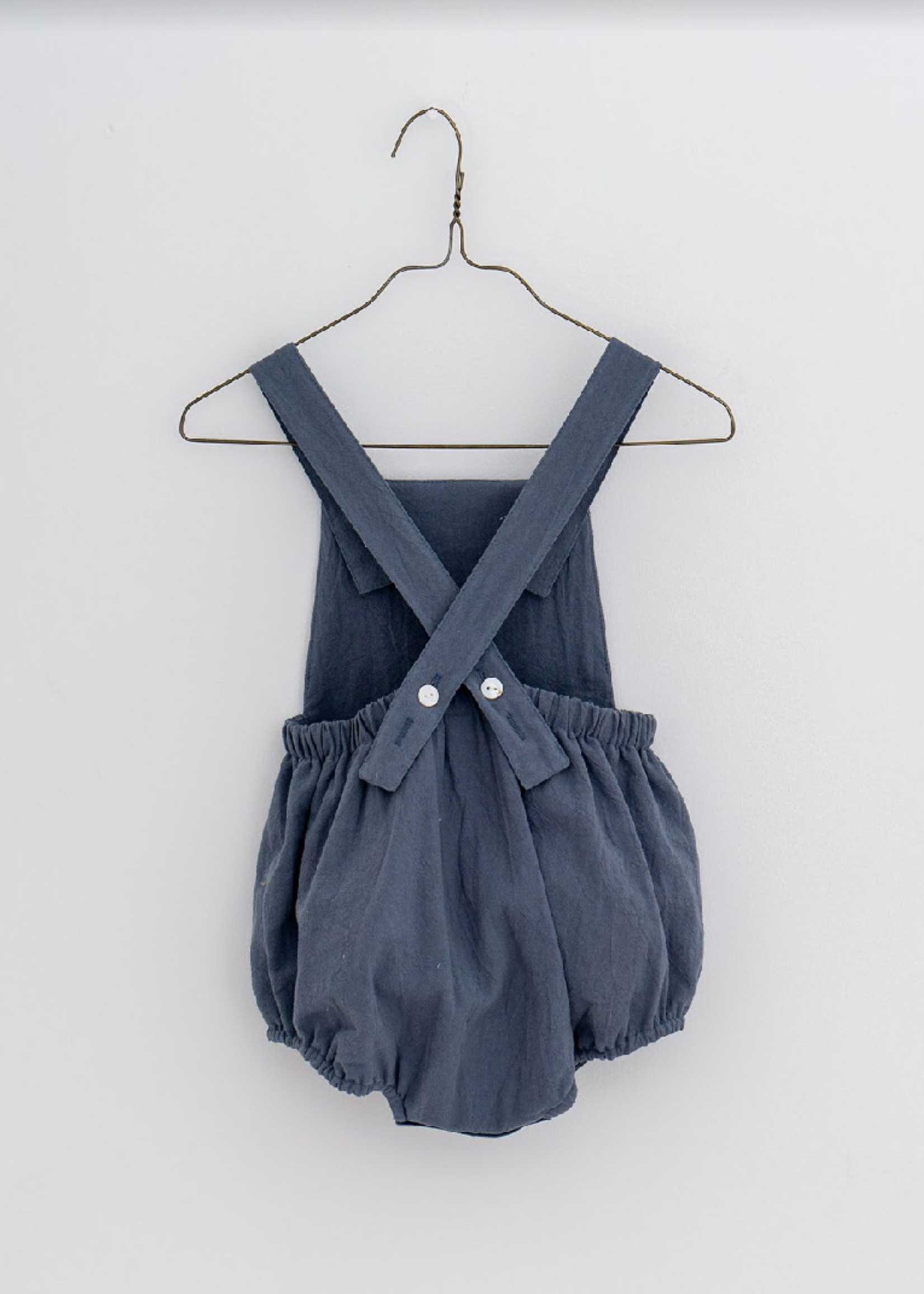 Little Cotton clothes Whitney Romper in Willow Blue