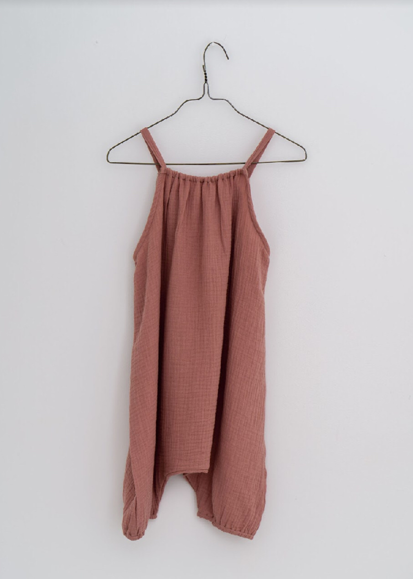 Little Cotton clothes Frankie Romper in Rose Muslin