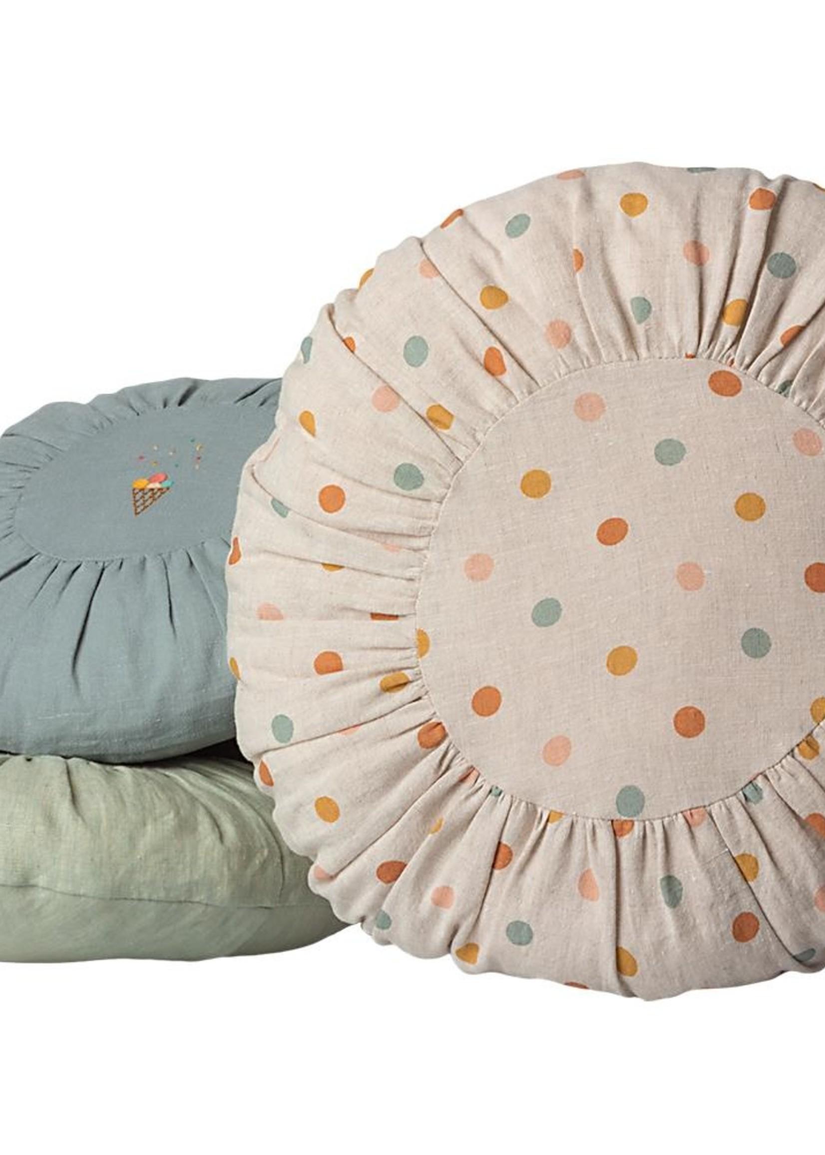 maileg Cushion Round large- Multi dots