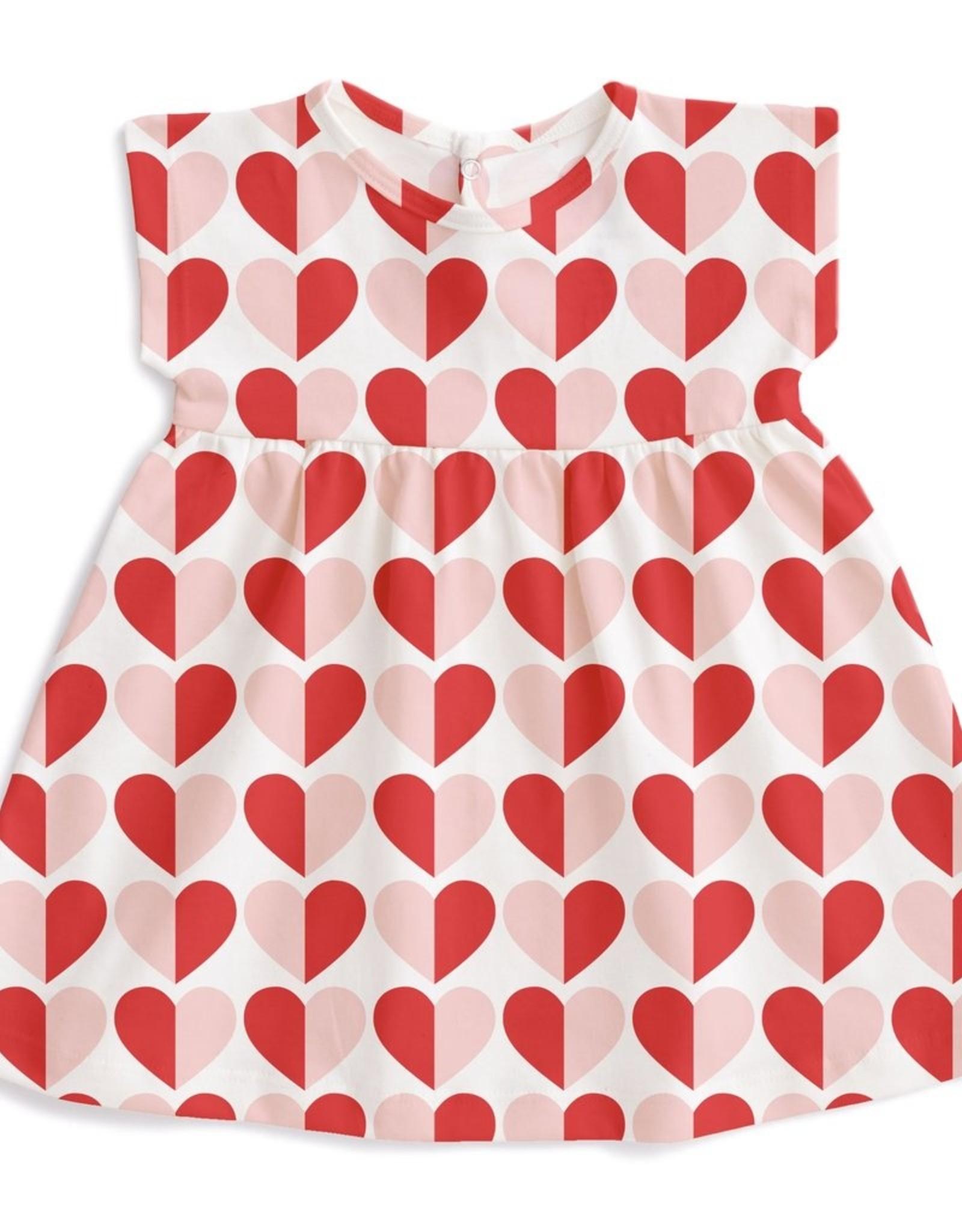 winterwaterfactory Medrano Baby Dress - Hearts