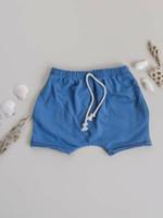 Jack Davis apparel Dusty Blue Raw Edge Hem Shorts