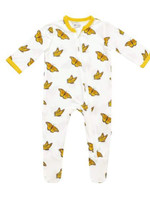 Kyte baby Printed Monarch zippered footie