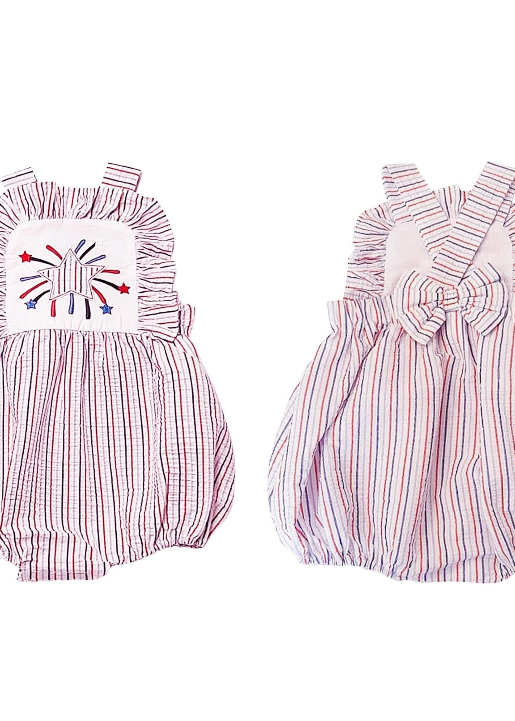 Marco and Lizzy 4th of July Applique Romper
