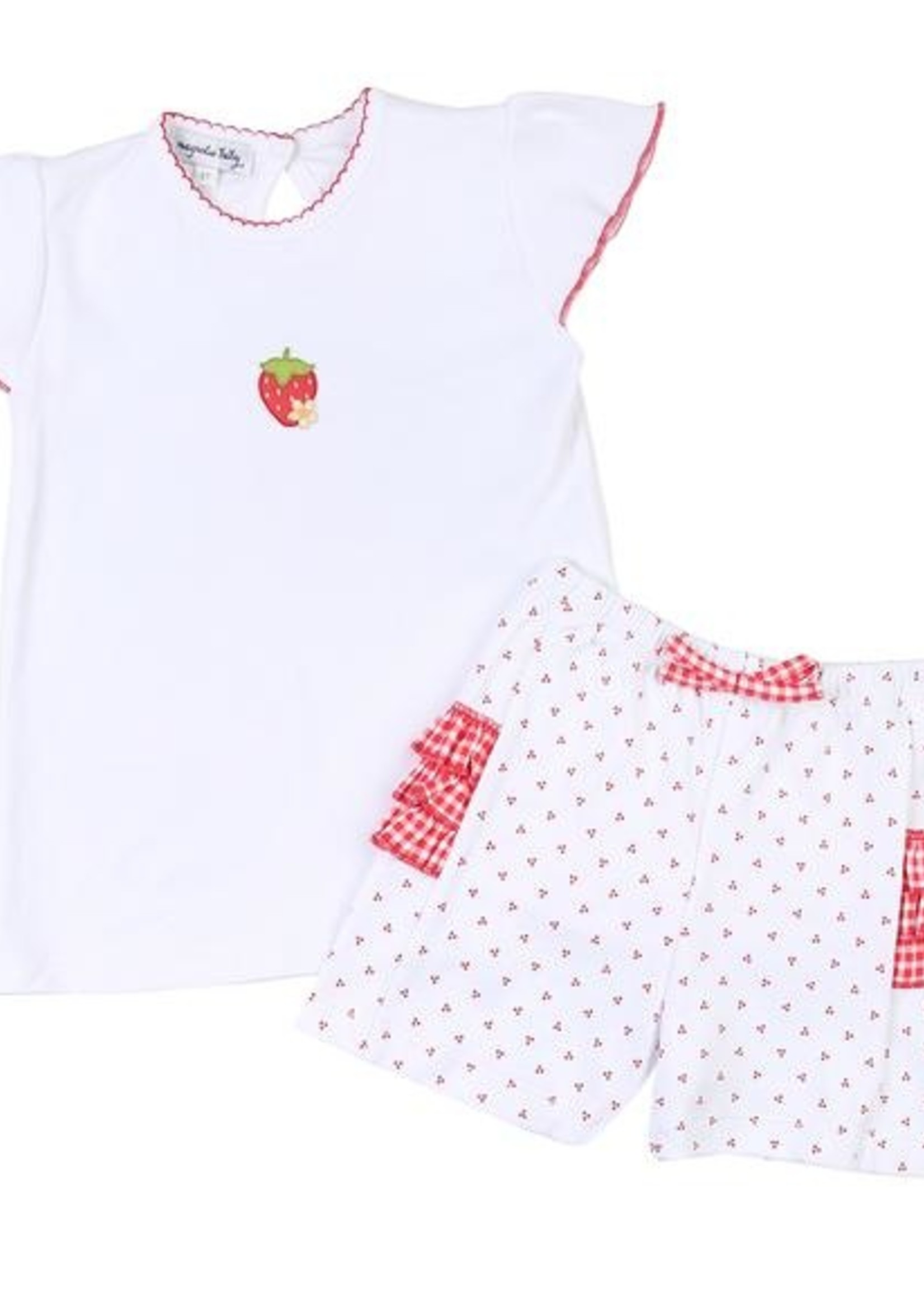 magnolia baby Fresh Strawberries Top and Shorts