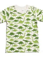 winterwaterfactory Short Sleeve Tee- Dinosaurs Green