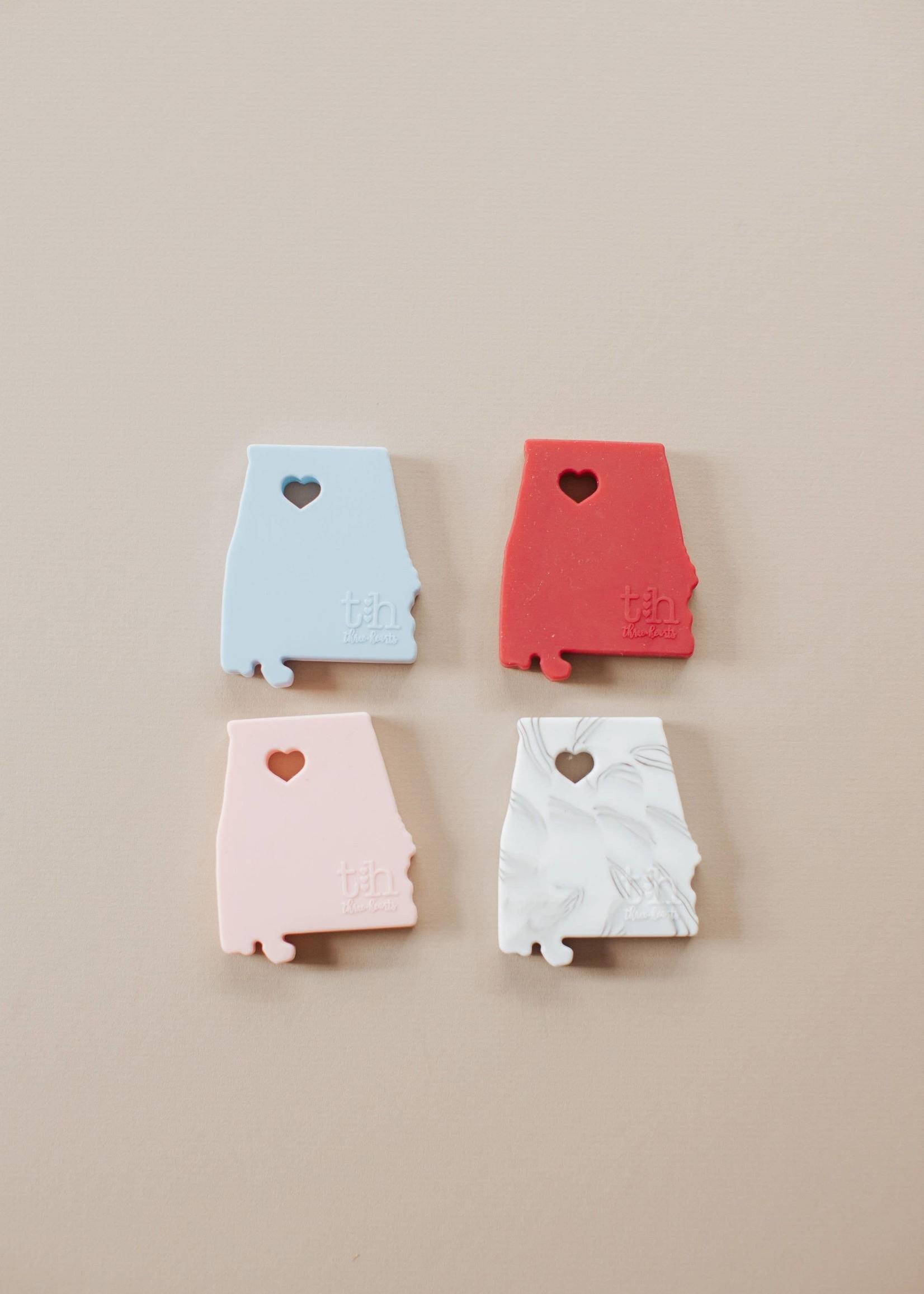 Three Hearts Alabama Silicone Teether