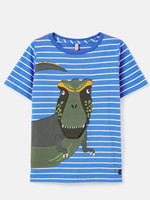 joules Blue Dino Applique Tee