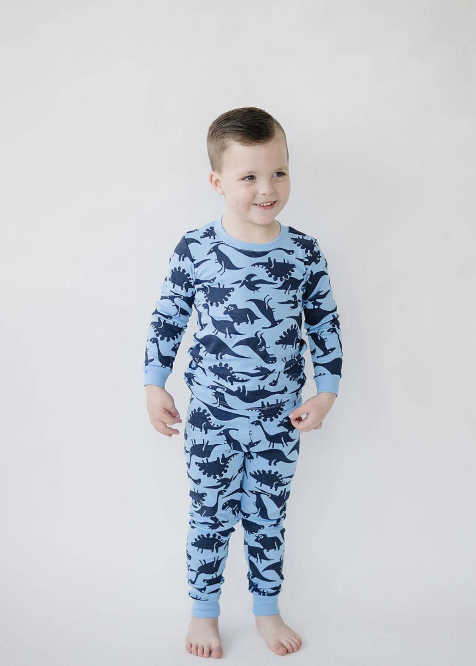 London Littles Dinosaur Pajamas- Blue