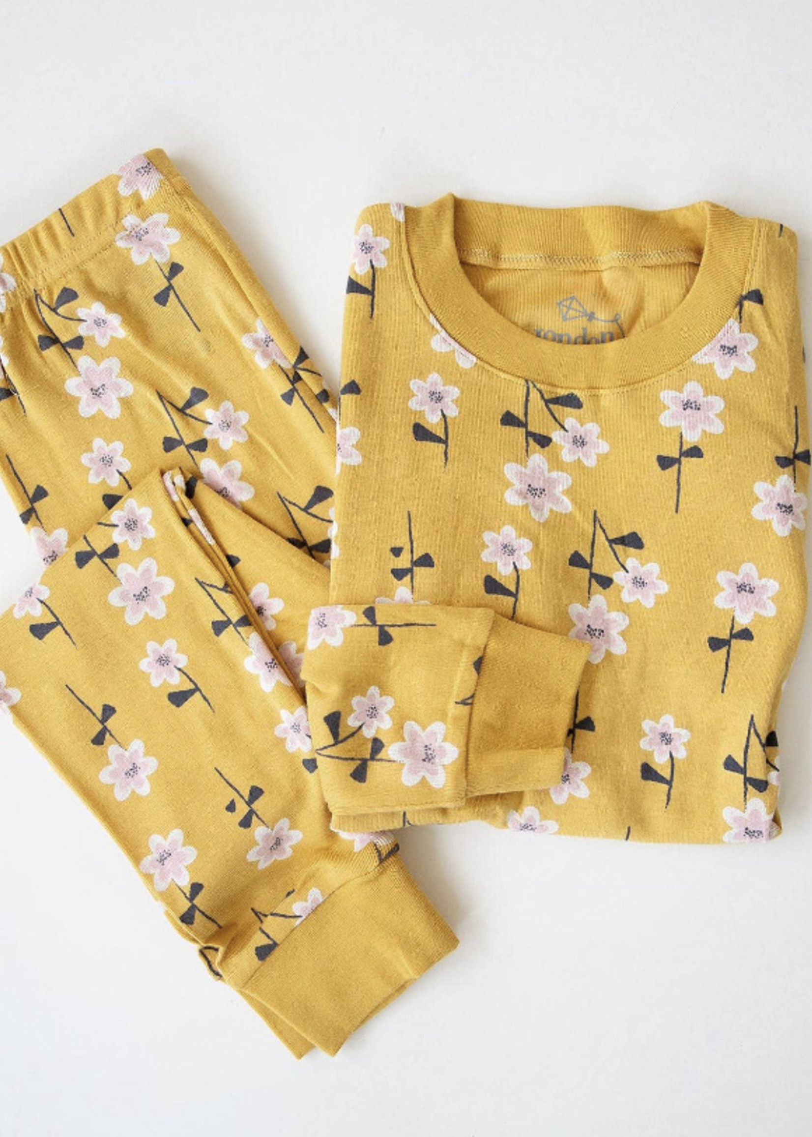 London Littles Yellow Floral Pajamas