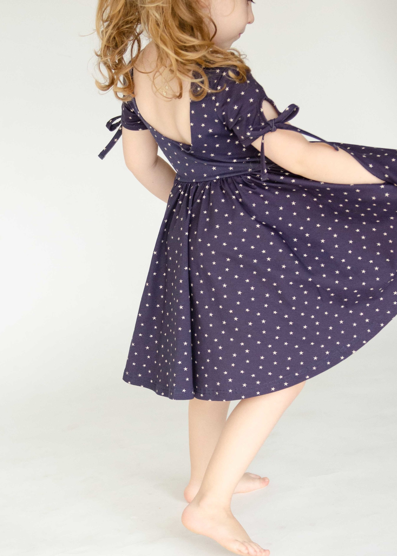 ollie jay Winnie Dress in Navy Stars