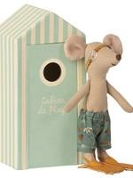 maileg Beach Mice, Big Brother in Cabin de Plage