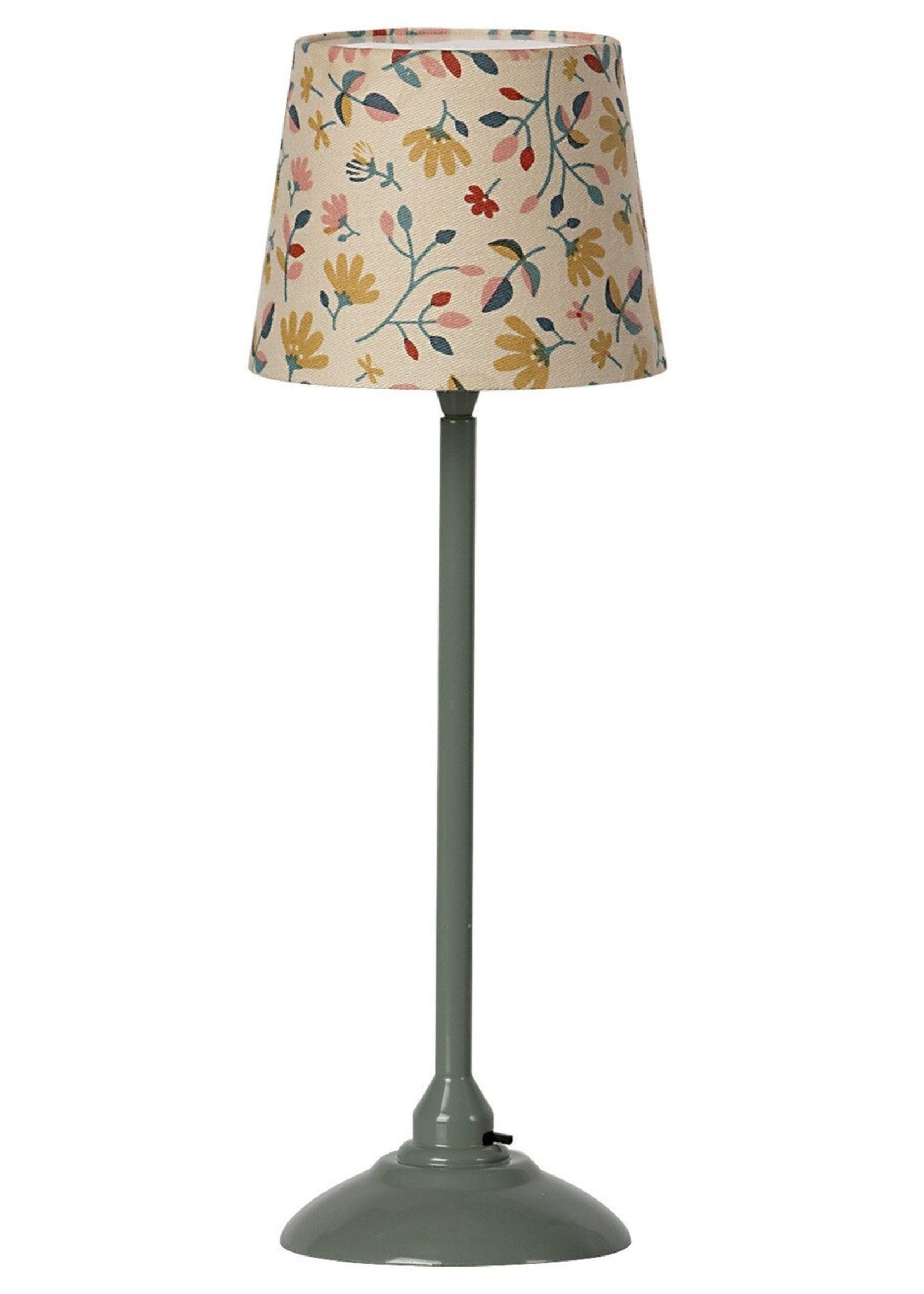 maileg Miniature floor lamp- Dark Mint
