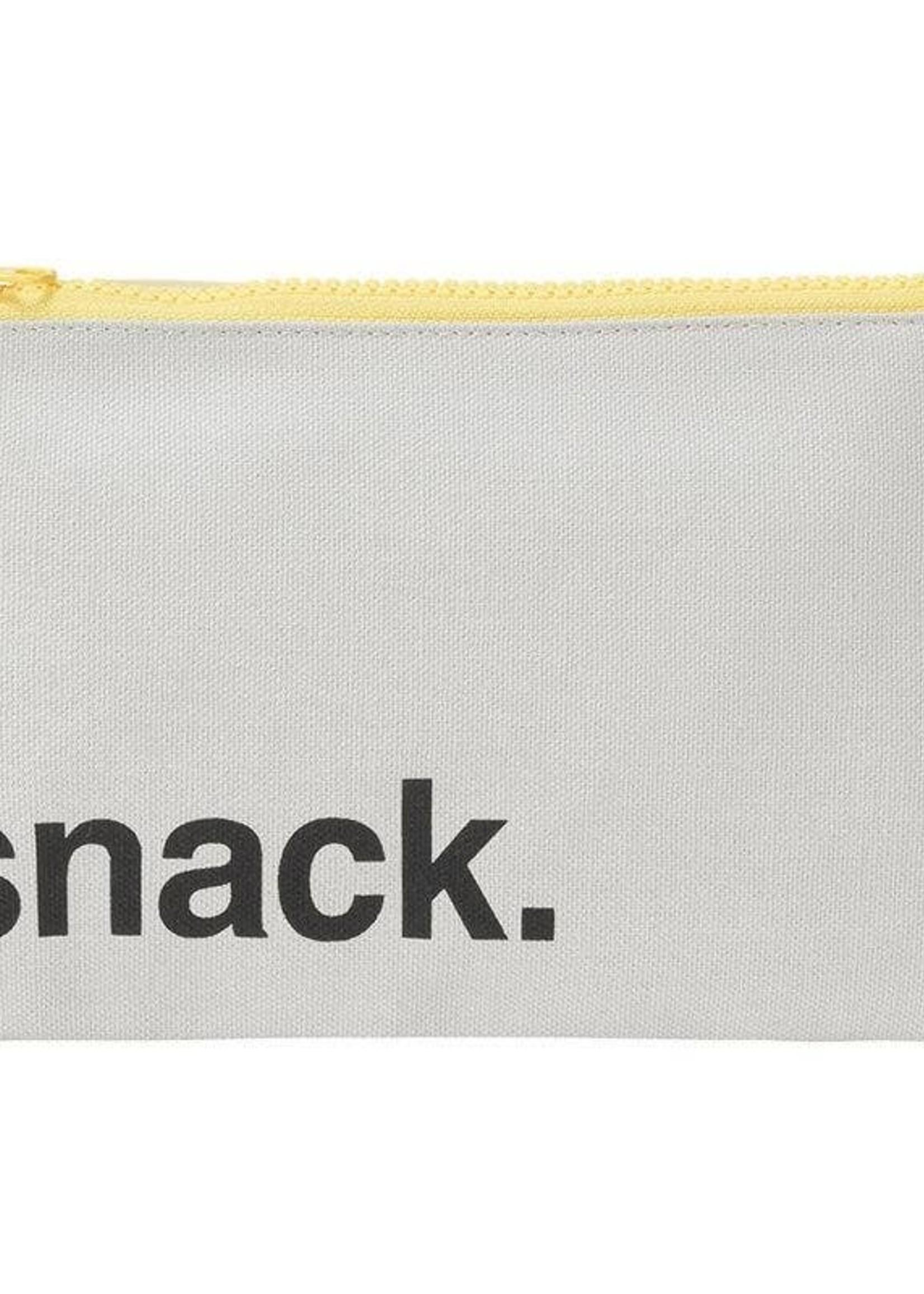 fluf Zip Snack Sack- Black with Blue Zip (Snack Size)