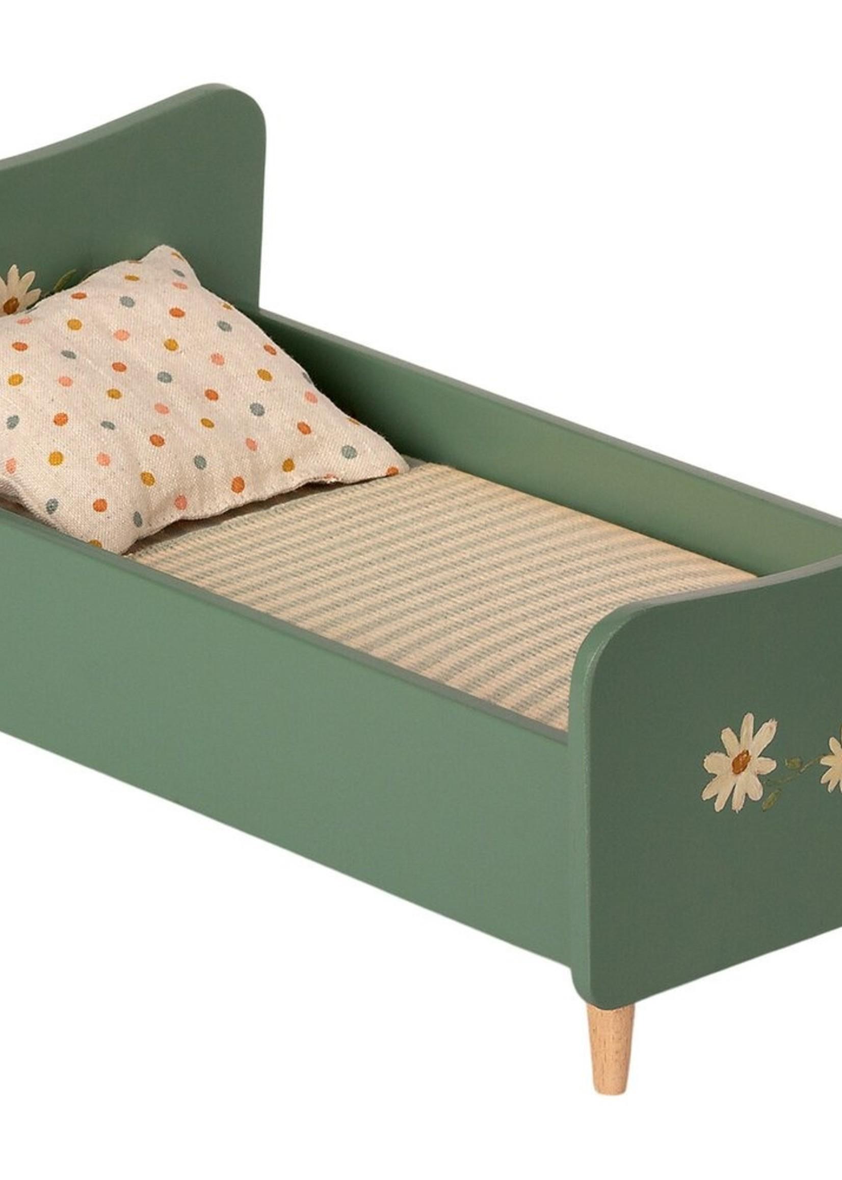maileg Wooden bed - mint blue