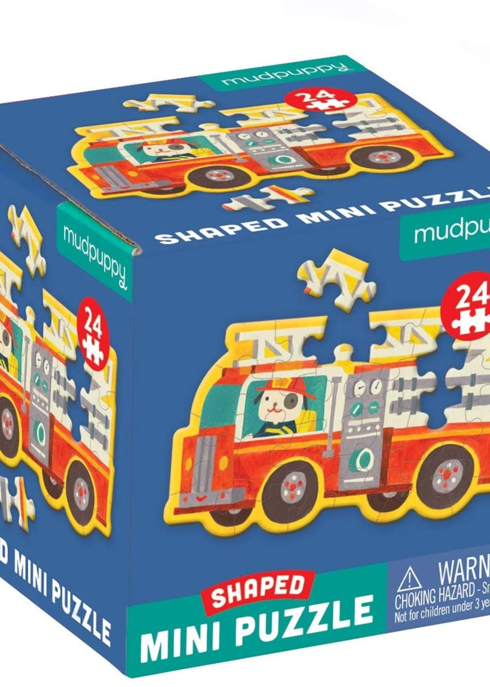 hatchett book group firetruck shaped mini puzzle
